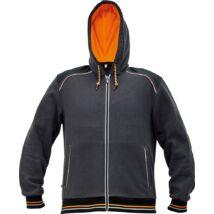 KNOXFIELD pulóver szürke-narancs
