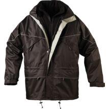 ISA II 3 AZ 1BEN kabát, fekete