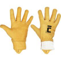 VACHER bőrkesztyű sárga 9