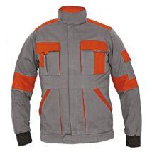 MAX LADY zubbony, szürke-MAX LADY női kabát szürke/narancs