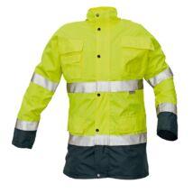 MALABAR meleg kabát HV sárga