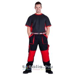 MAX nadrág 260 g/m2 fekete/piros