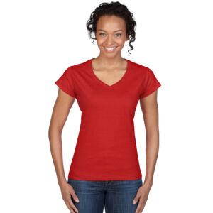 Női V nyakú póló
