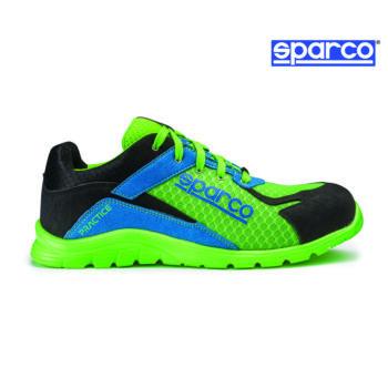 Sparco Practice munkavédelmi cipő S1P (fluozöld-azúrkék)
