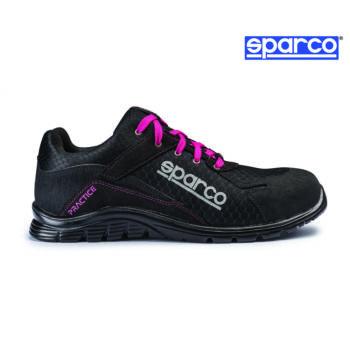 Sparco Practice munkavédelmi cipő S1P (fekete-rózsaszín)
