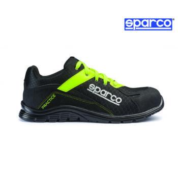 Sparco Practice munkavédelmi cipő S1P (fekete-fluosárga)