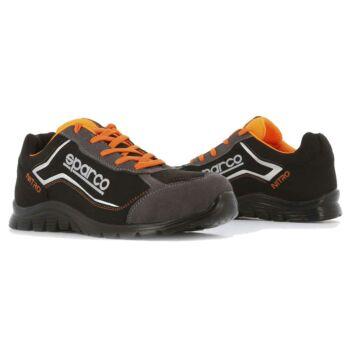 Sparco Nitro munkavédelmi cipő S3 (fekete-narancs)