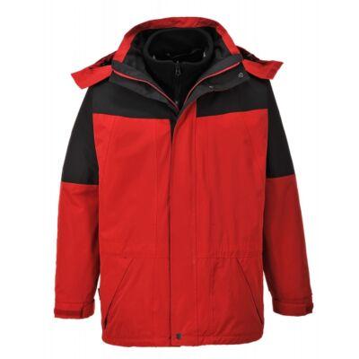 Aviemore 3az1-ben kabát - piros