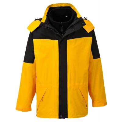 Aviemore 3az1-ben kabát - sárga