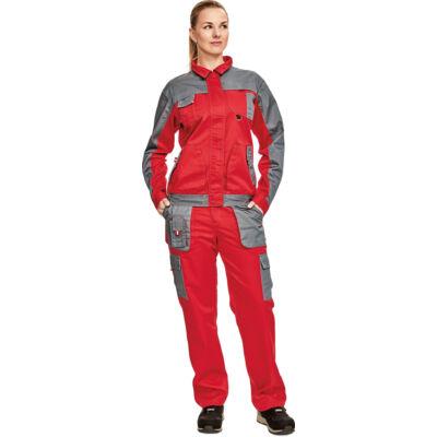 MAX EVO LADY kabát piros/szürke