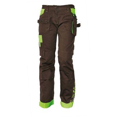 YOWIE nadrág női barna/zöld
