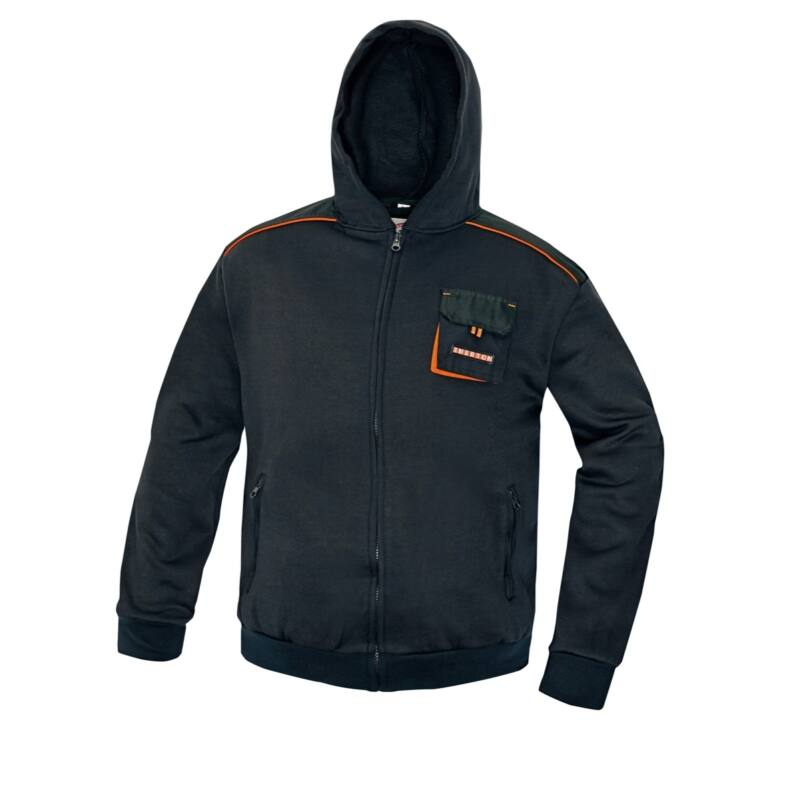 EMERTON kapucnis pulóver fekete