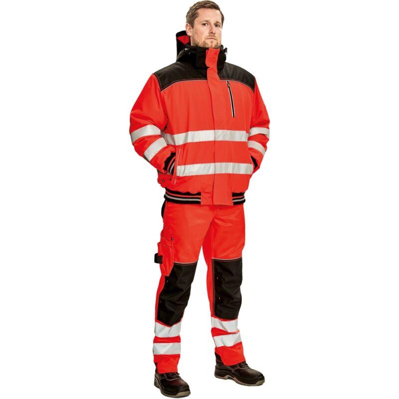 KNOXFIELD Hi-Vis pilóta dzseki piros