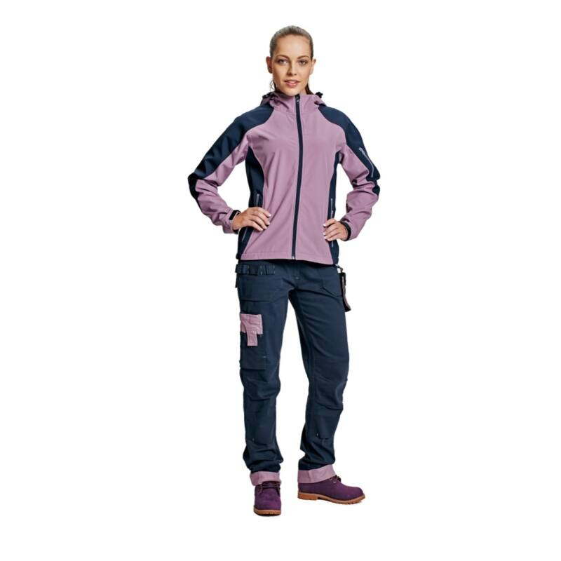 YOWIE SOFTSHELL kabát világos lila/navy