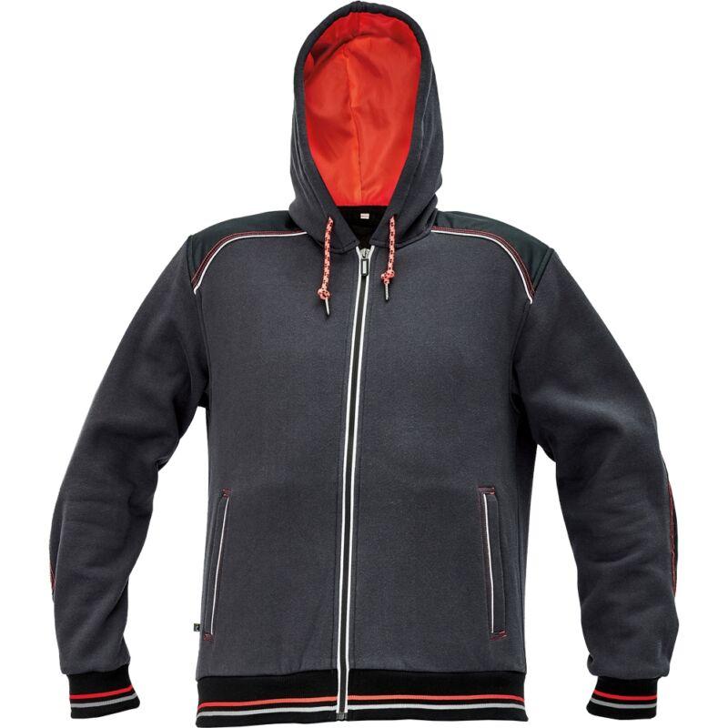 KNOXFIELD pulóver szürke-piros