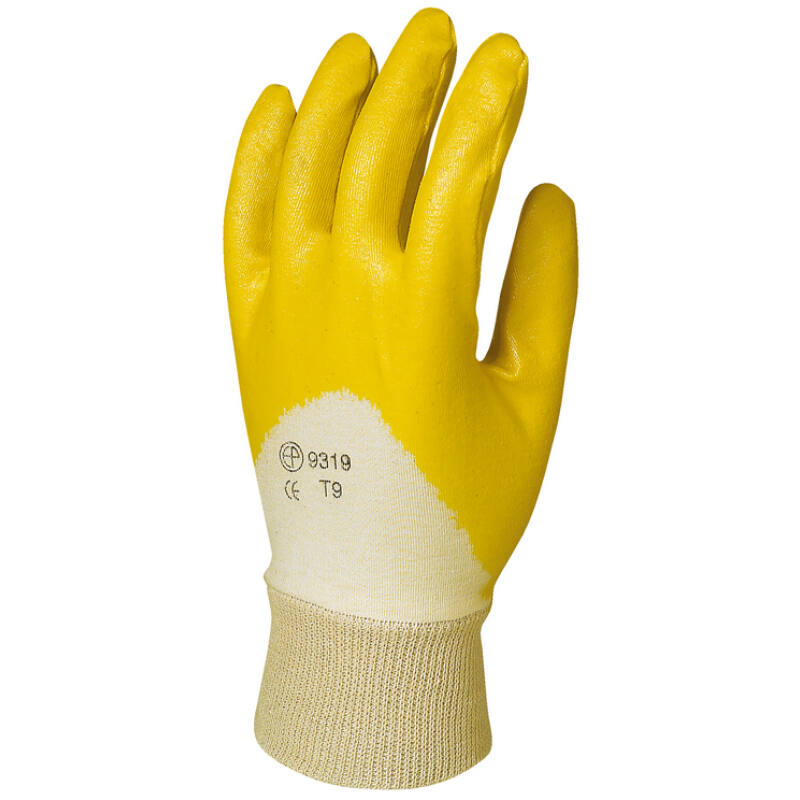 9317-9321, Pamutra ökölcsontig mártott sárga nitril