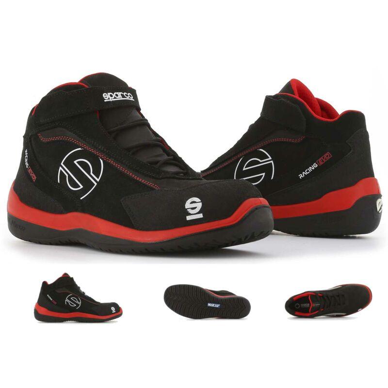 Sparco Racing Evo munkavédelmi cipő S3 (piros-fekete)