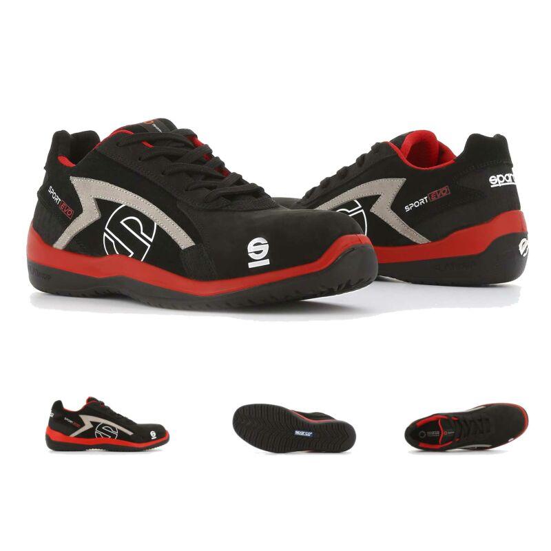 Sparco Sport Evo munkavédelmi cipő S3 (piros-fekete)