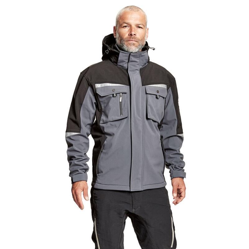ALLYN soft. kabát+csuklya szürke/feke XS