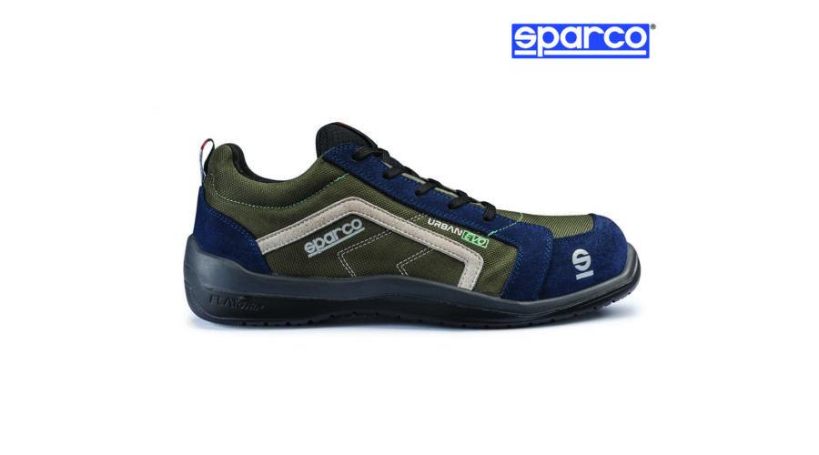 e40717017a Sparco Urban Evo munkavédelmi cipő S1P (olajzöld-középkék) Katt rá a  felnagyításhoz